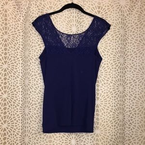 Express lace and nylon top SMALL
